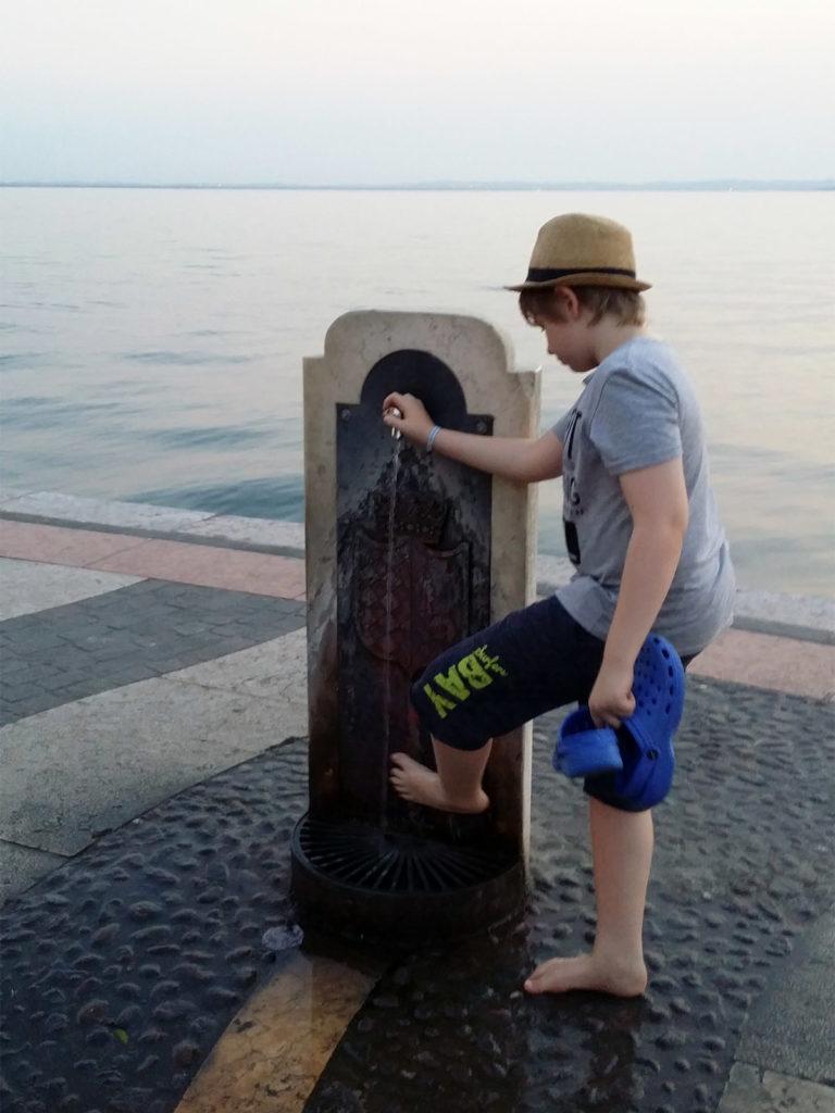 Vattenkran i Lazise