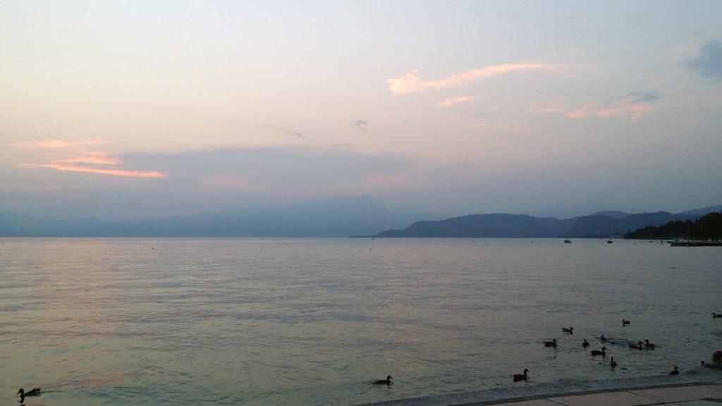 Gardasjön utsikt från Lazise