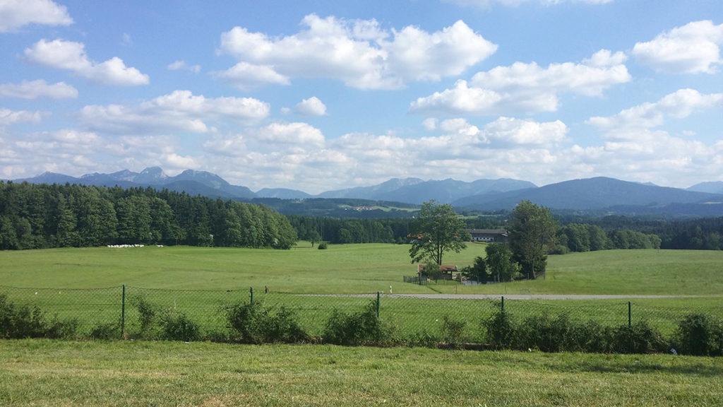 Utsikt mot Alperna