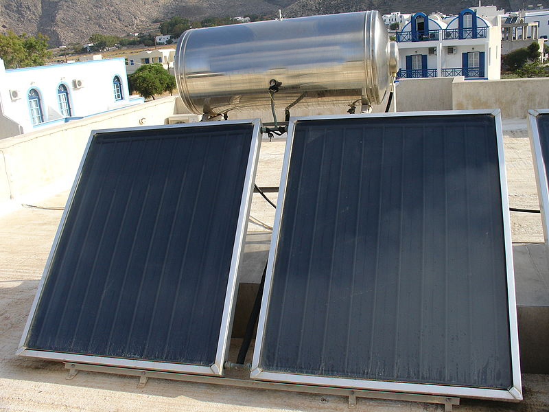 Solpaneler för uppvärmning av vatten