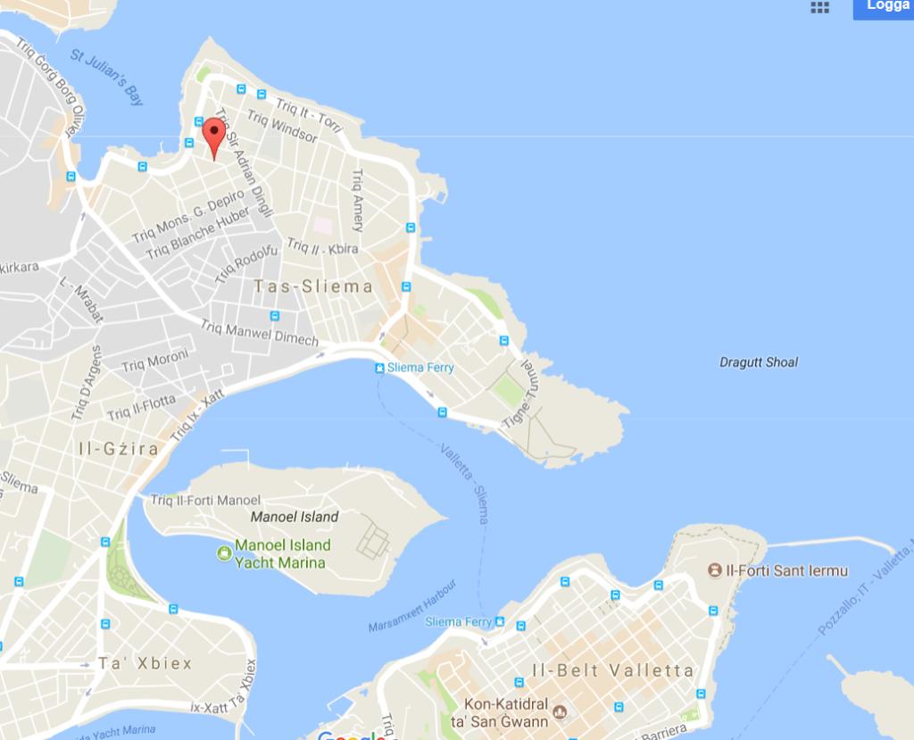 Sliema och Valletta.